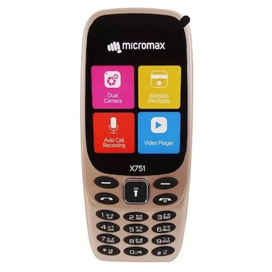 Micromax X751 2.4 Inch Display,Camera,Wireless FM (Champagne) Price in India