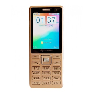Micrommax X725,2.4 Inch Display, Dual Camera, Dual Sim (Champagne) Price in India