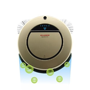 Buy Milagrow Aguabot 5.0 Anion Generator Ionizing Full Wet and Dry Floor Mopping Robotic Vacuum Cleaner Online