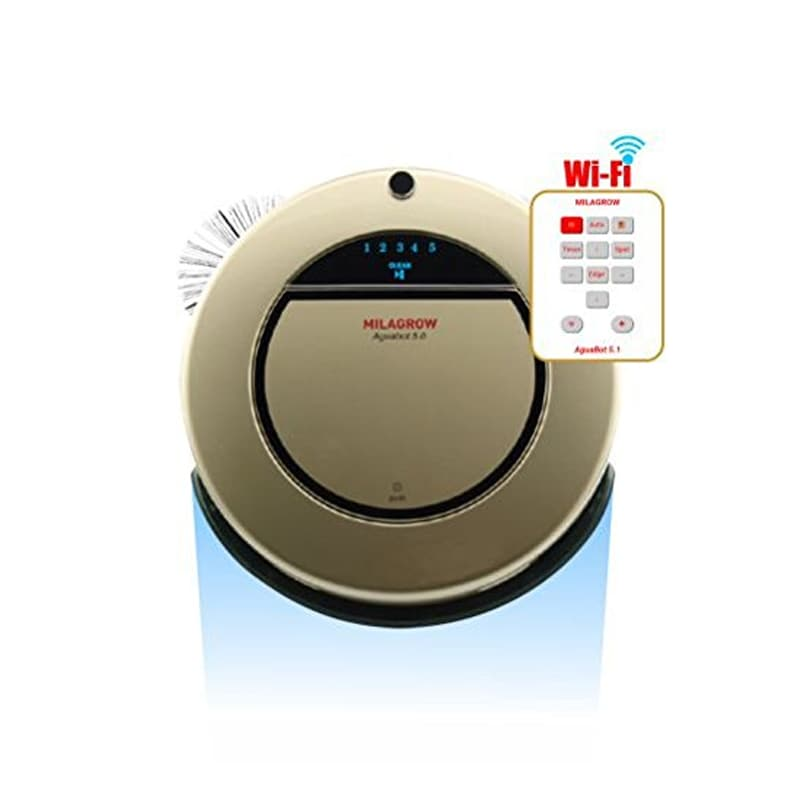 Buy Milagrow AguaBot 5.0 W-Fi-Full Wet Mopping and Dry Cleaning Floor Vacuuming Robot with a Water Tank Champagne Gold online