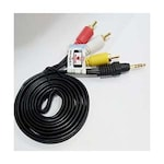 Buy Mograb 3.5Mm Stereo Male To 3 RCA Male Audio Viideo AV Cable Multicolor Online
