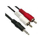 Buy Mograb 3.5Mm Stereo Male To 2 RCA Male Audio Viideo Av Cable Black Online