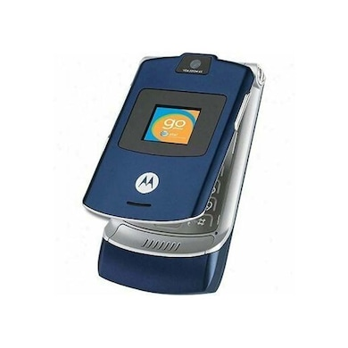 Refurbished Moto Razr V3i, 2 Inch Display, Camera (Blue) Price in India