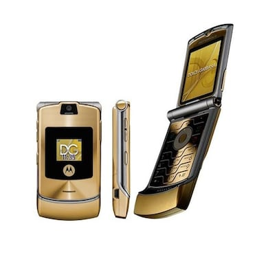 Refurbished Moto Razr V3i, 2 Inch Display, Camera (Gold) Price in India