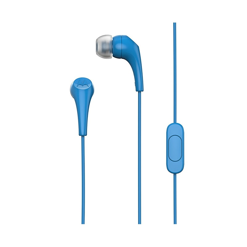 Buy Motorola Earbuds 2 In Ear Wired Headset With Mic Blue online