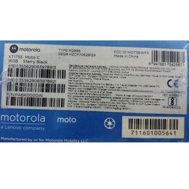 Motorola Moto C 4G Starry Black, 16GB images, Buy Motorola Moto C 4G Starry Black, 16GB online at price Rs. 5,449
