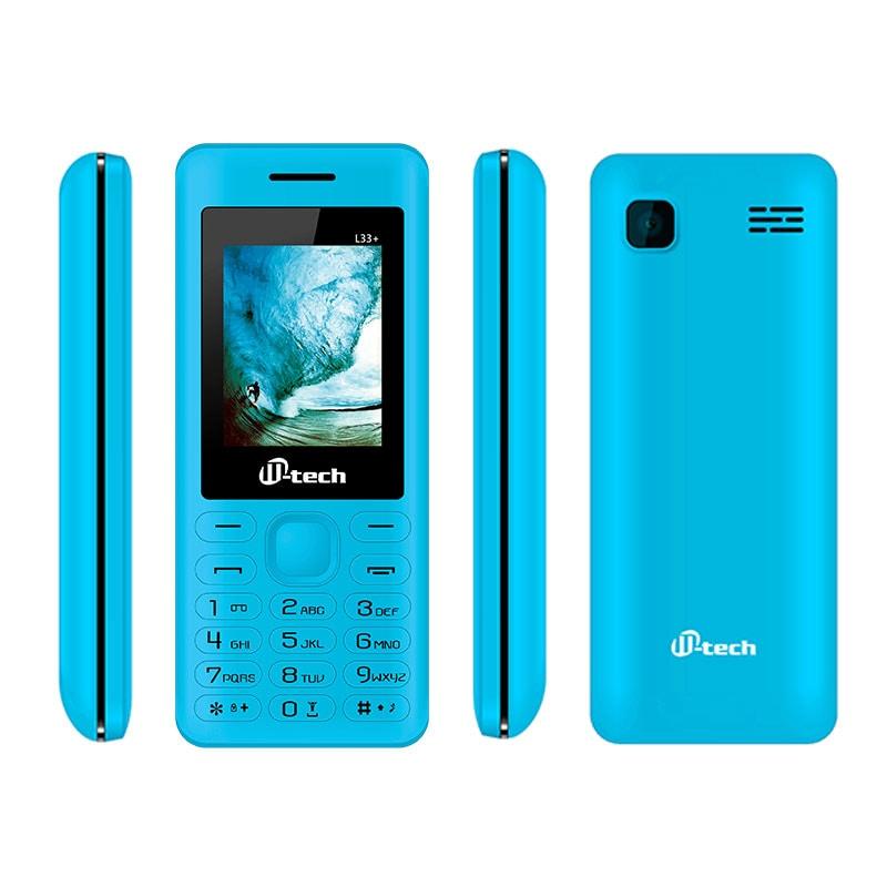 Buy Mtech L33 Plus Dual Sim Feature Phone Blue online