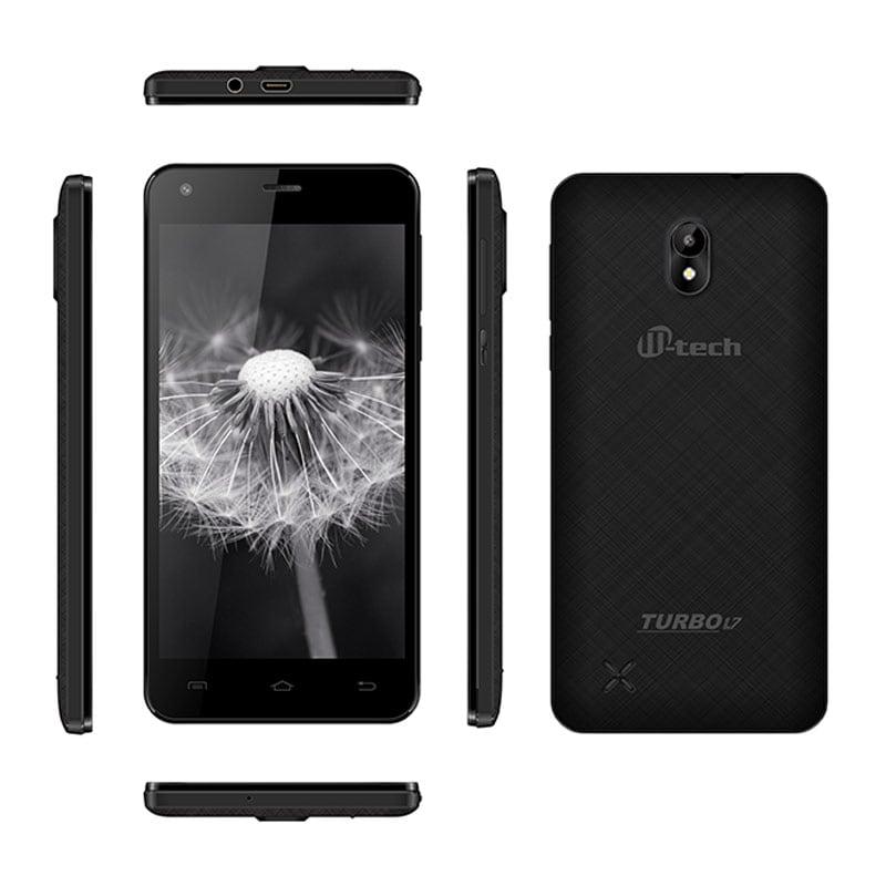 Buy Mtech Turbo L7 Dual Sim Smartphone Black, 4 GB online