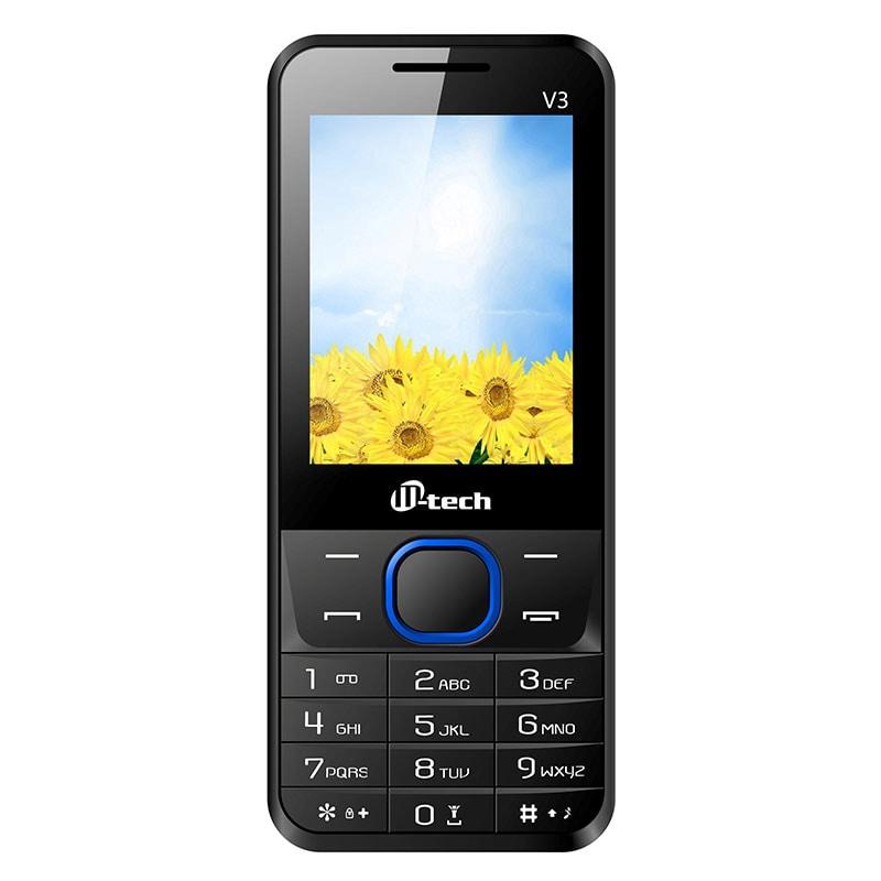 Mtech V3 Dual Sim Feature Phone Blue images, Buy Mtech V3 Dual Sim Feature Phone Blue online at price Rs. 1,299