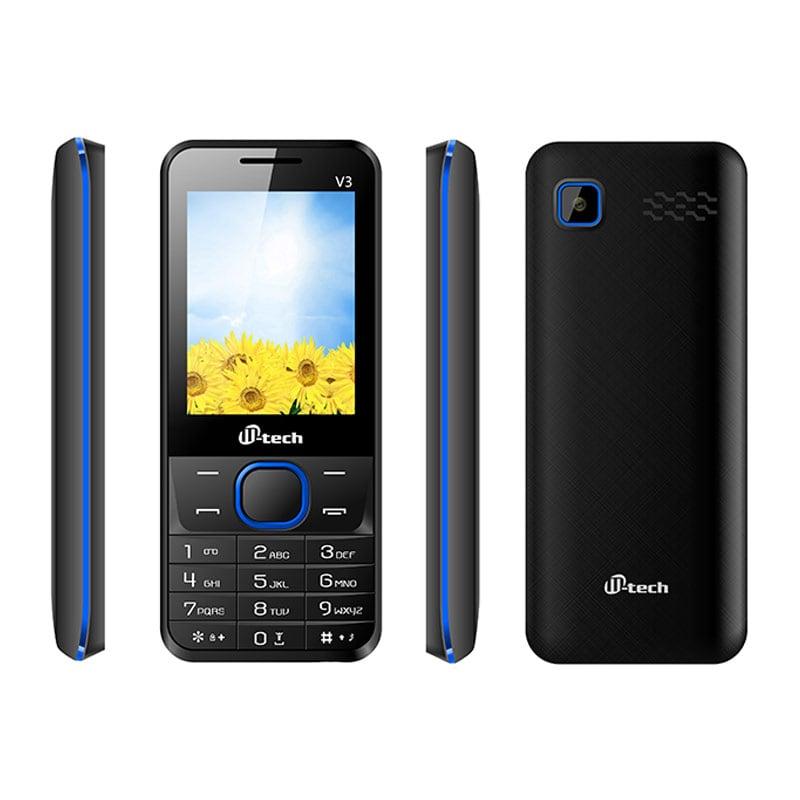 Buy Mtech V3 Dual Sim Feature Phone Blue online