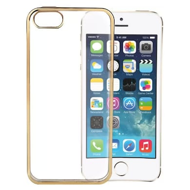 a8cb809df2 nCase Back Cover for Apple iPhone 5S and iPhone 5 Transparent Gold Price in  India ...