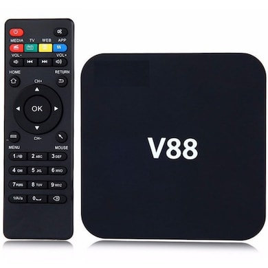 Net Runner NR-V88M 1GB/8GB Android Smart Box+Touch Keypad Black Price in India