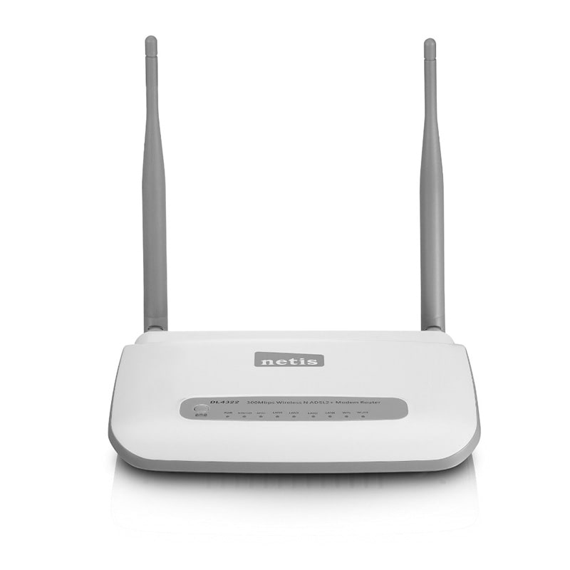 netis dl4322 300 mbps wirless n adsl2 moedm router white price in india buy netis dl4322 300. Black Bedroom Furniture Sets. Home Design Ideas