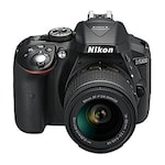 Buy Nikon D5300 24.2MP Digital SLR Camera with AF-P 18-55mm f/ 3.5-5.6g VR Kit Lens + Card + Camera Bag Black Online