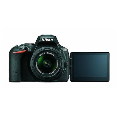 Nikon D5500 DSLR Camera with Single Lens:DX AF-P Nikkor 18-55 mm/VR Kit lens+16 GB Card+Camera Bag Black Price in India