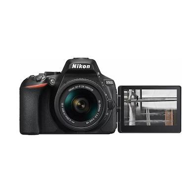 Nikon D5600 DSLR Camera with Single Lens: AF-P DX Nikkor 18-55 mm F/VR Kit Black Price in India