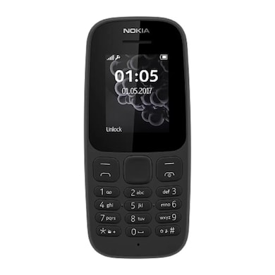 Nokia 105 2017 – 1.8″ – FM Radio – Dual Sim – Black