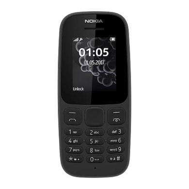 Nokia 105 Single SIM 2017,1.8 Inch Display,FM (Black) Price in India