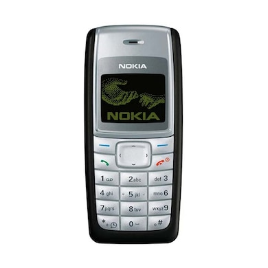 Refurbished Nokia 1110i,900 mAh Li-Ion battery (Black and Silver) Price in India