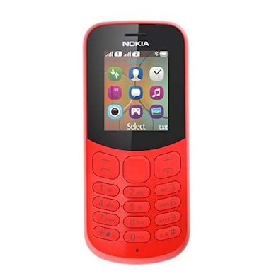 Nokia 130 with Camera 2017 Model, Dual Sim (Red) Price in India