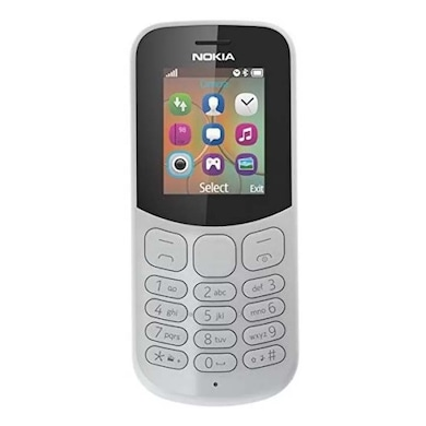 Nokia 130 with Camera 2017 Model, Dual Sim (Grey) Price in India
