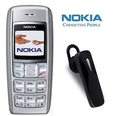 Refurbished Nokia 1600 with Bluetooth (Silver) Price in India