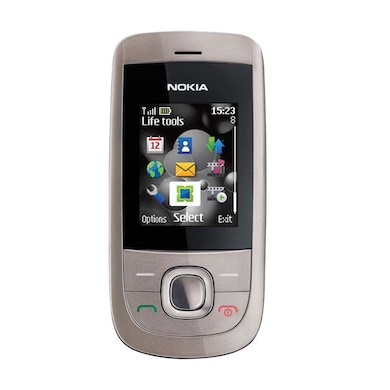 Refurbished Nokia 2220 Stylish Slider Mobile With Camera (Black and Gold) Price in India