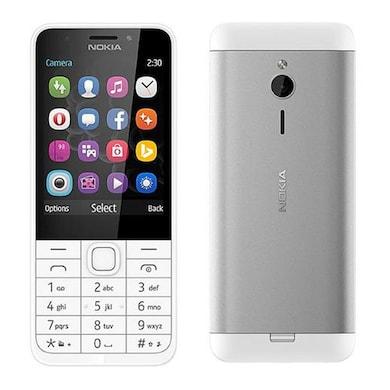 Nokia 230 Dual SIM Feature Phone (Silver) Price in India