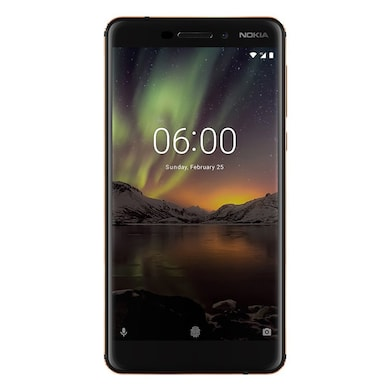 Refurbished Nokia 6.1 (Black and Copper, 3GB RAM, 32GB) Price in India