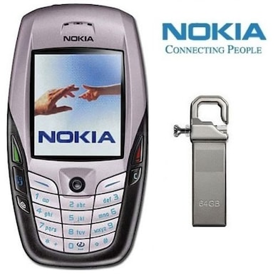 Refurbished Nokia 6600 with Pendrive (White) Price in India