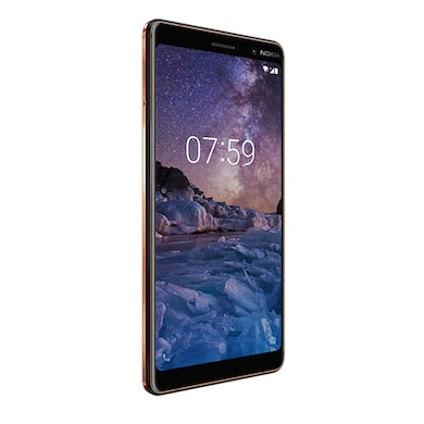 Refurbished Nokia 7 Plus (Black and Copper, 4GB RAM, 64GB) Price in India