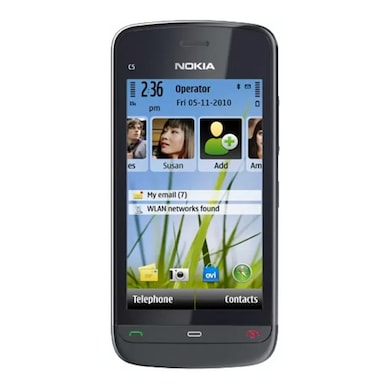 Refurbished Nokia C503, 3.2 Inch Display,5 MP Camera (Black) Price in India