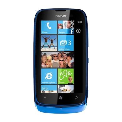 Refurbished Nokia Lumia 610 (Blue, 256MB RAM, 8GB) Price in India