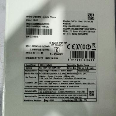 Oppo F3 Plus (Black, 6GB RAM, 64GB) Price in India