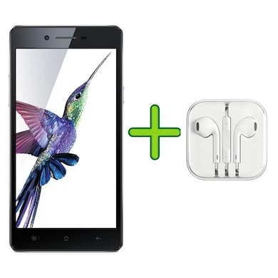 Refurbished Oppo Neo 7 4G +Free Earphone with Mic for All Android/iPhones (Black, 1GB RAM, 16GB) Price in India