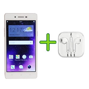 Refurbished Oppo Neo 7 4G +Free Earphone with Mic for All Android/iPhones (White, 1GB RAM, 16GB) Price in India