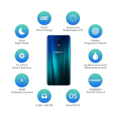 Oppo R17 (Ambient Blue, 8GB RAM, 128GB) Price in India