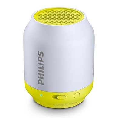 Philips BT50 Wireless Portable Bluetooth Speaker White and Yellow Price in India