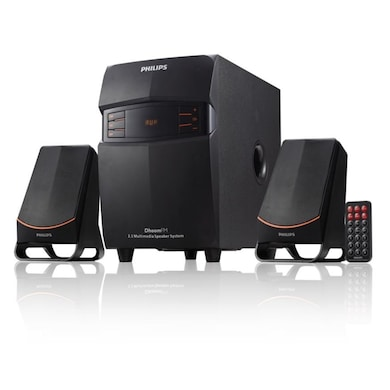 Philips MMS2550F Wired Multimedia Speaker (Black, 2.1 Channel) Price in India