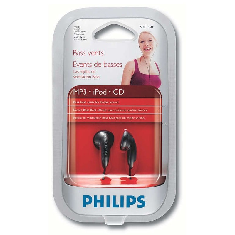 Buy Philips SHE 1360 In-Ear- Headphones Black online