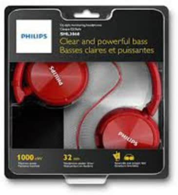 Philips SHL3060 Stereo Dynamic Wired Headphone Red Price in India