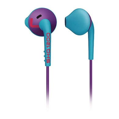 Philips SHQ1200 Action fit Sport in Ear Headphone Purple and Blue Price in India