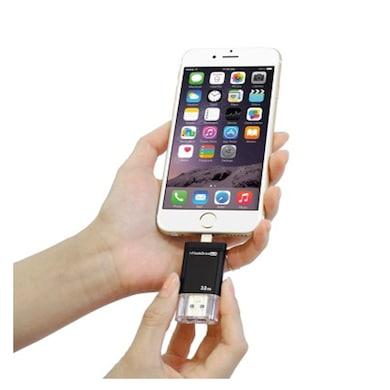 PhotoFast 32 GB Dual USB I-Flash Pendrive Black Price in India