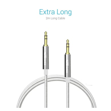 Portronics Konnect AUX Cable Silver Price in India