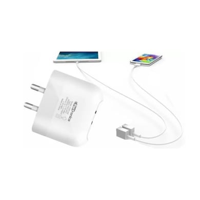 Portronics POR 542 Dual USB Port Mobile Charger White Price in India