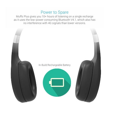 1612c84dba2 ... Portronics POR-762 Muffs Plus Wireless Bluetooth Headset with AUX Port  Black Price in India