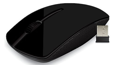Portronics Quest Wireless Laser Mouse Black Price in India