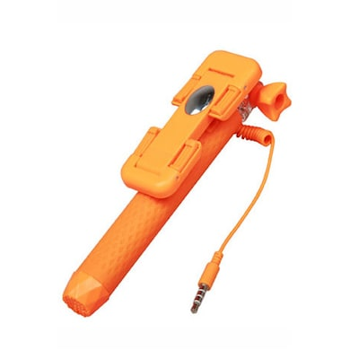 Portronics Wired Selfie Pen Stick Orange Price in India