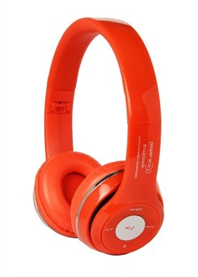 Power Ace PBH 001 Bluetooth Stereo Headset (Red, Over the Ear) Price in India