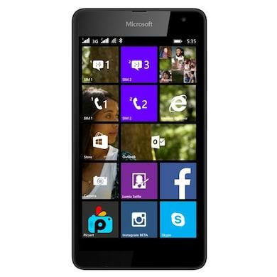Refurbished Microsoft Lumia 535 (Black, 1GB RAM, 8GB) Price in India